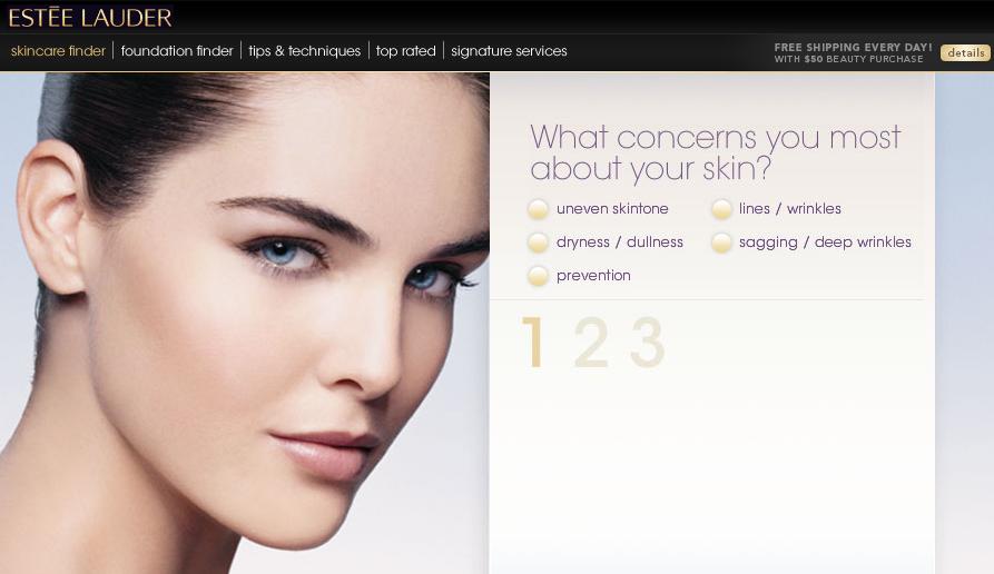 Estee Lauder Skincare Finder